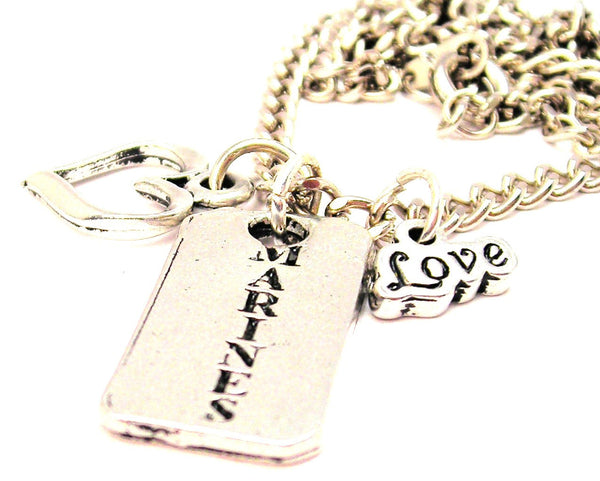 Marines Long Tab Little Love Necklace