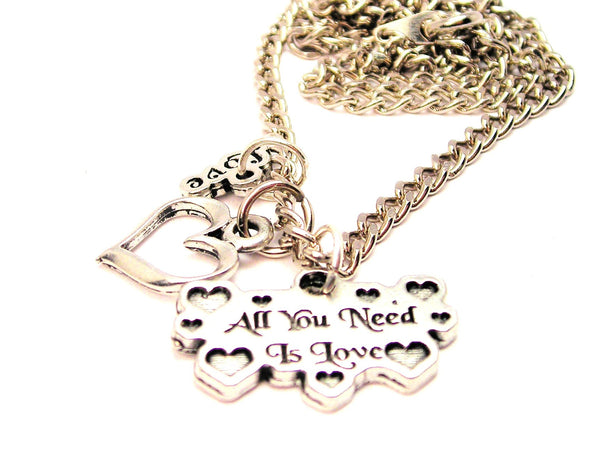 Hearts All You Need Is Love With Hearts Little Love Necklace