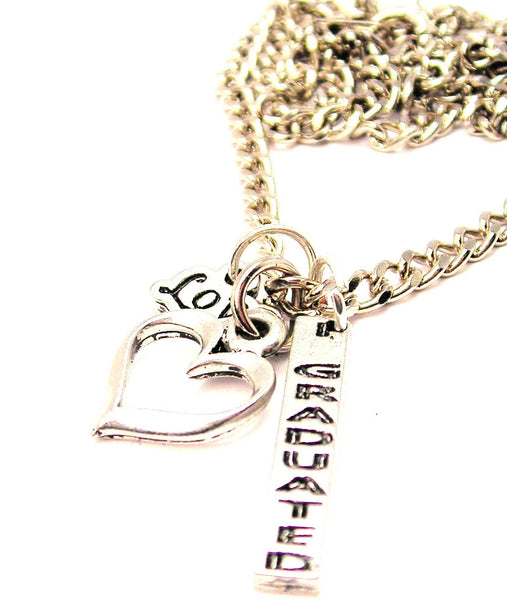 I Graduated Long Tab Little Love Necklace
