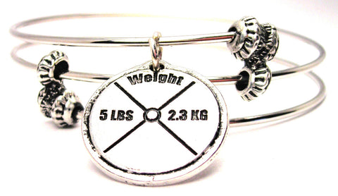 5 Lb Weight Triple Style Expandable Bangle Bracelet