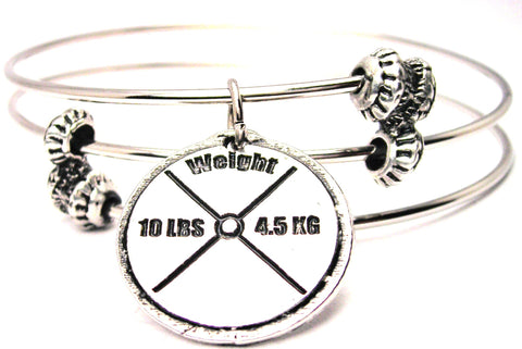 10 Lb Weight Triple Style Expandable Bangle Bracelet