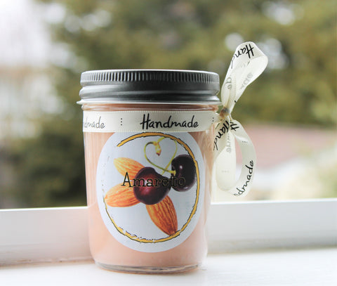Amaretto Scented Soy Candle