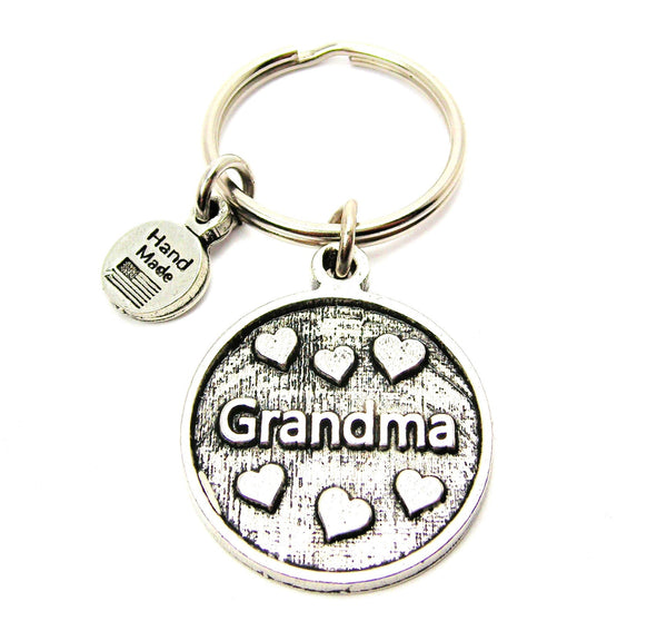 Grandma With Hearts Key Chain