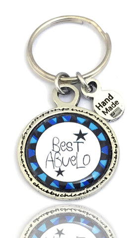 Style_Love Key Chains,  Family Key Chains,  Best Grandpa Key Chain,  Saying Key Chains,  Men's Gift, Style_Spanish Language,  Style_Spanish Key Chains