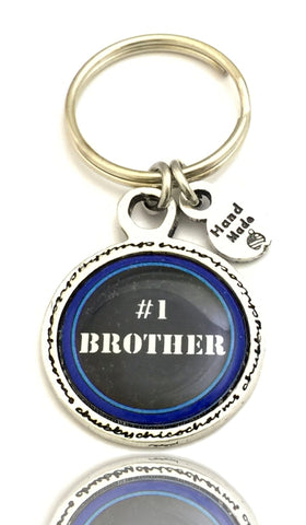 Style_Love Key Chains,  Family Key Chains,  Best Brother Key Chain,  Saying Key Chains,  Men's Gift