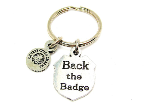 Back The Badge Standard Key Chain
