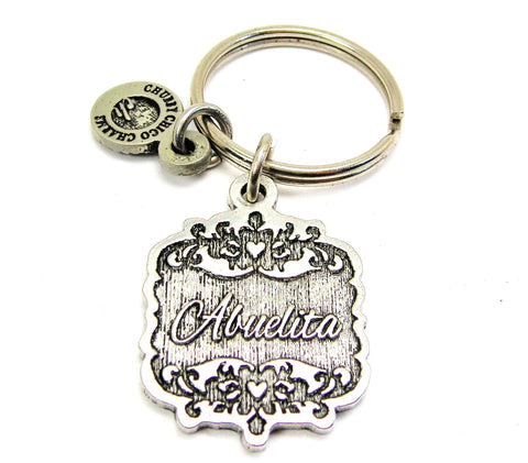 Abuelita Victorian Scroll Key Chain