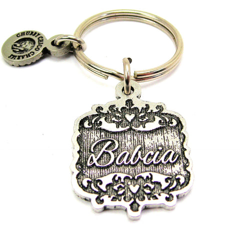 Babcia Victorian Scroll Key Chain