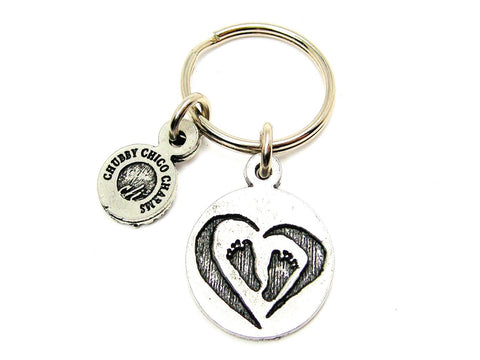 Baby Footprints Standard Key Chain