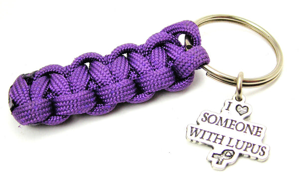 I Love Someone WithLupus Paracord 550 Military Spec Paracord Key Chain