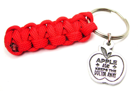 Apple A Day Keeps The Doctor Away 550 Military Spec Paracord Key Chain