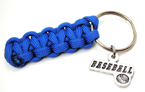 Baseball Tab With Baseball 550 Military Spec Paracord Key Chain