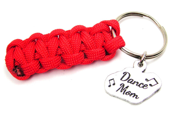 Dance Mom With Music Notes 550 Military Spec Paracord Key Chain