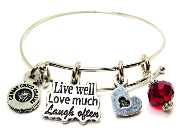 Live Well Love Much Laugh Often Catalog Single Stacker