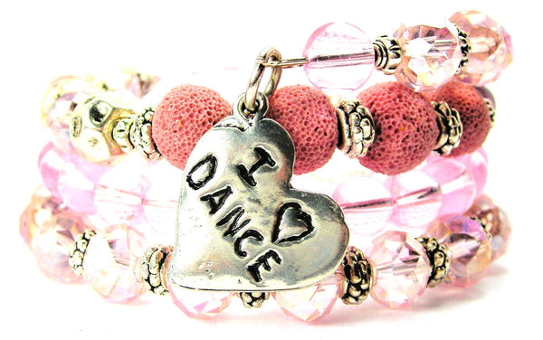 I Love Dance Multi Wrap Bracelet