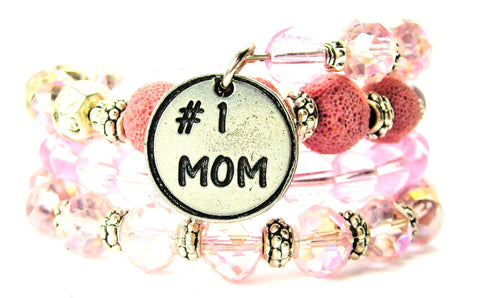 #1 Mom Multi Wrap Bracelet
