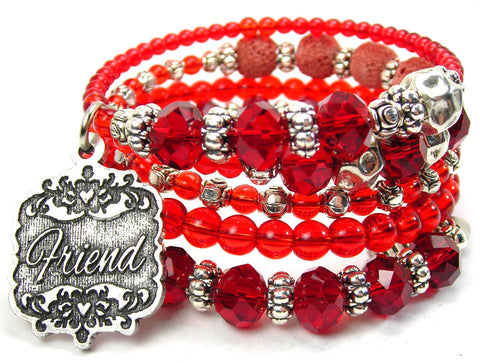 Friend Victorian Scroll Multi Wrap Bracelet