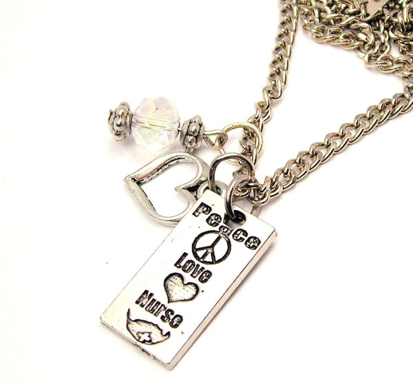 Peace Style_Love Nurse Necklace with Small Heart
