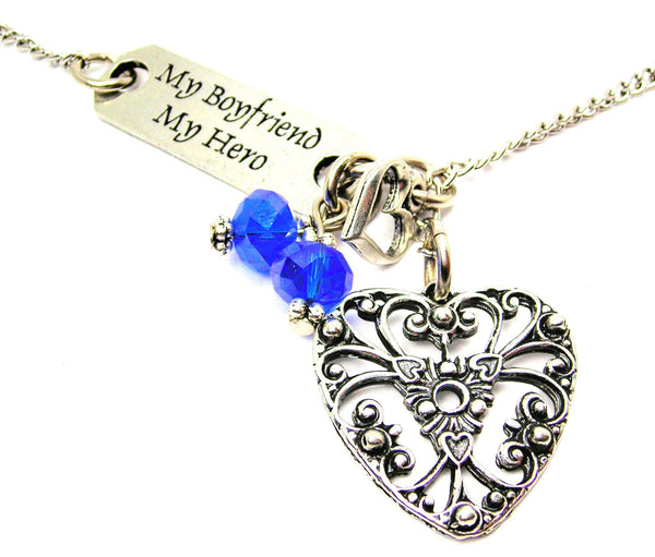 My Boyfriend My Hero And Style_Spanish Heart Style 2 Lariat Necklace