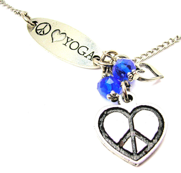 Peace Style_Love Yoga And Peace Heart Lariat Necklace