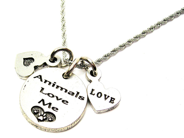 Animals Style_Love Me Stainless Steel Rope Chain Necklace