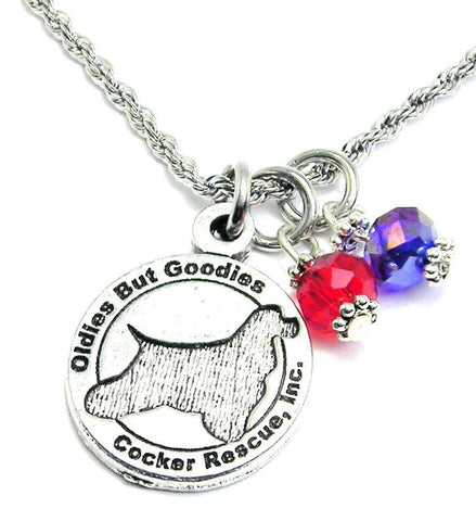Oldies But Goodies Cocker Spaniel Rescue Girl's Rope Necklace