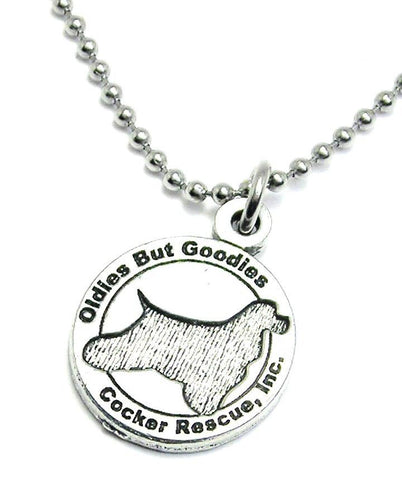 Oldies But Goodies Cocker Spaniel Rescue Unisex Necklace