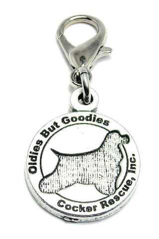 Oldies But Goodies Cocker Spaniel Rescue Zipper Pull