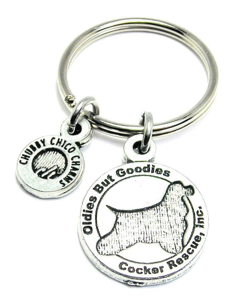 Oldies But Goodies Cocker Spaniel Rescue Key Chain