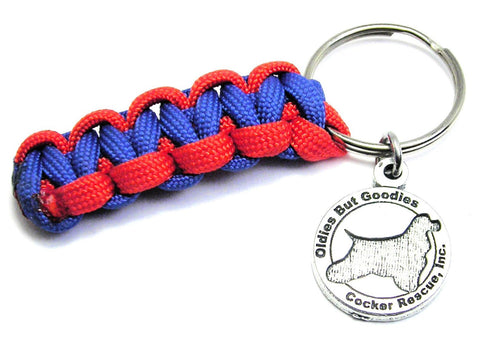 Oldies But Goodies Cocker Spaniel Rescue Paracord Key Chain