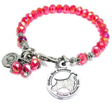 Oldies But Goodies Cocker Spaniel Rescue Crystal Bracelet