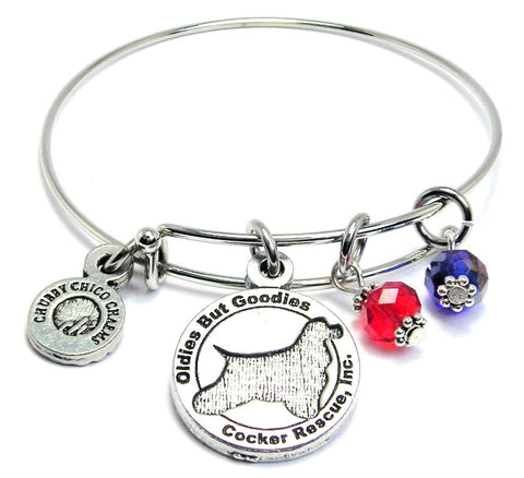 Oldies But Goodies Cocker Spaniel Rescue Bangle Bracelet