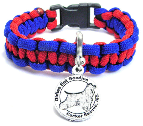 Oldies But Goodies Cocker Spaniel Rescue Paracord Bracelet