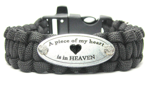 A Piece Of My Heart Is In Heaven 550 Military Spec Paracord Bracelet