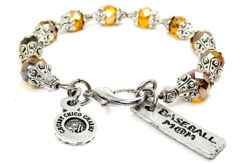 Baseball Mom Catalog Capped Crystal - Topaz