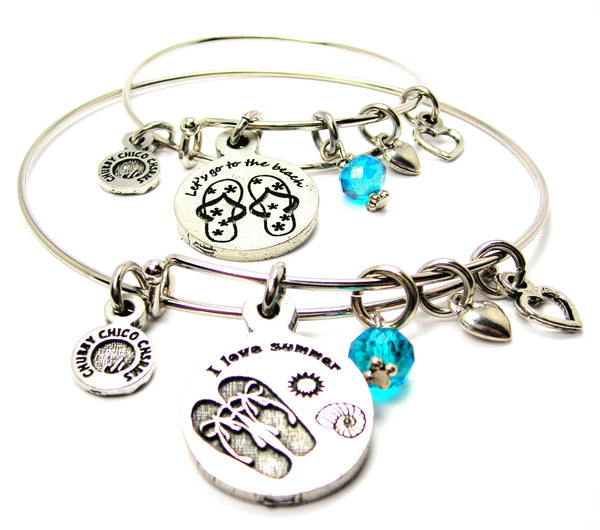 BEACH JEWELRY, SUMMER JEWELRY, ADULT AND CHILD JEWELRY SET, CHILD BANGLES