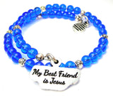 My Best Friend Is Jesus Catalog Delicate Glass Wrap - Sapphire