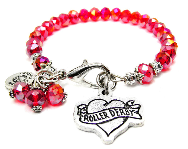 Roller Derby Heart Catalog Splash Of Color - Crimson Red