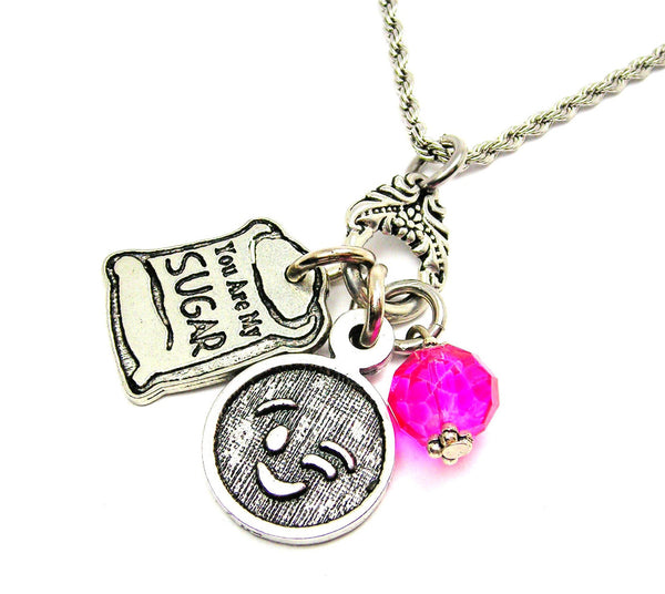 You Are My Sugar Catalog Necklace - Hot Pink