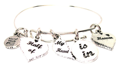 5 Charm Half Of My Heart Is In Heaven Bangle