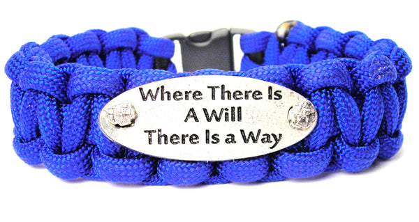 Where There Is A Will There Is A Way 550 Military Spec Paracord Bracelet