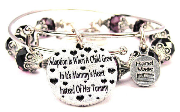 Collection Adoption Is When A Child Grew In Its Mommy's Heart Instead Of Her Tummy 2 Piece Collection