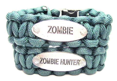 2 Piece Set Zombie And Zombie Hunter 550 Military Spec Paracord Bracelets