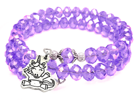 Baby Unicorn Crystal Wrap Bracelet