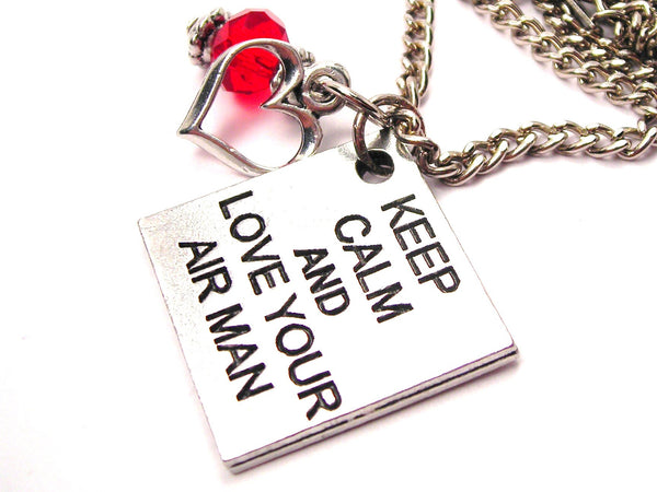 Keep Calm And Style_Love Your Airman Necklace with Small Heart