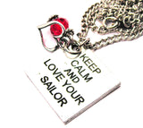 Keep Calm And Style_Love Your Sailor Necklace with Small Heart