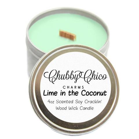 Lime In The Coconut Scented Soy Cracklin' Wood Wick Candle Tin