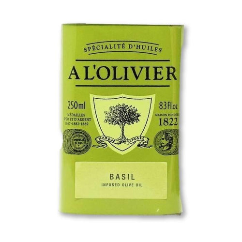 A L'Olivier - Basil Infused Extra Virgin Olive Oil, 250ml Tin - Olive Oil - La Courtisane Gourmet Food