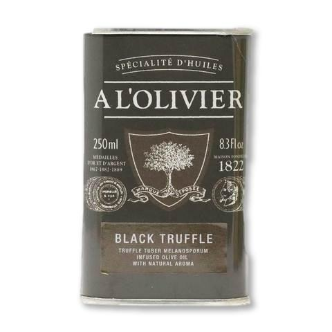 A L'Olivier - Black Truffle Infused Extra Virgin Olive Oil, 250ml Tin - Olive Oil - La Courtisane Gourmet Food