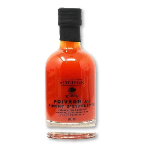 A L'Olivier - Espelette Pepper Infused Fruit Vinegar, 200ml - Vinegar - La Courtisane Gourmet Food